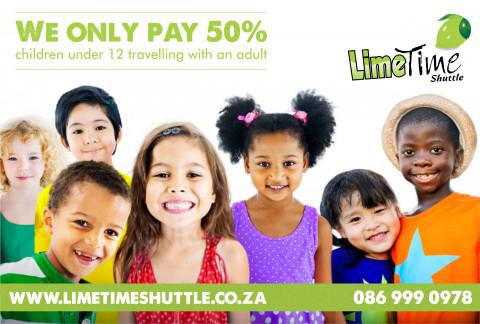 Limetime Shuttle ~ Discount for Children under 12