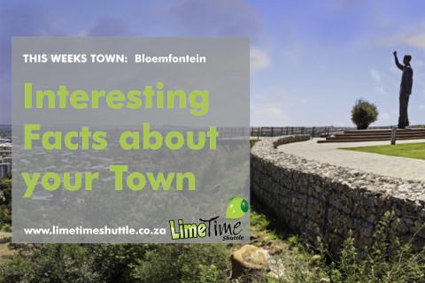 Limetime Shuttle ~ Town of the Week : Bloemfontein