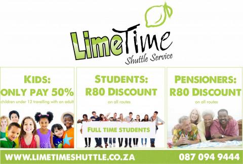 Limetime Shuttle Specials
